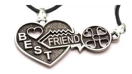 Pingentes Cara Metade Best Friend Melhor Amigo Coração Chave
