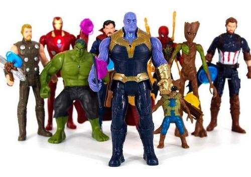 Imagen 1 de 5 de Muñecos Vengadores Venom Thanos Spider Hulk Iron Capitan