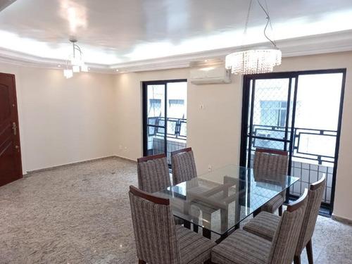 Apartamento À Venda, 120 M² Por R$ 690.000,00 - Pompéia - Santos/sp - Ap3804