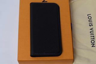 Case Louis Vuitton Couro Epi Preto P/ iPhone X E Xs Original C/ Nota Fiscal I Capa Capinha De Celular Folio