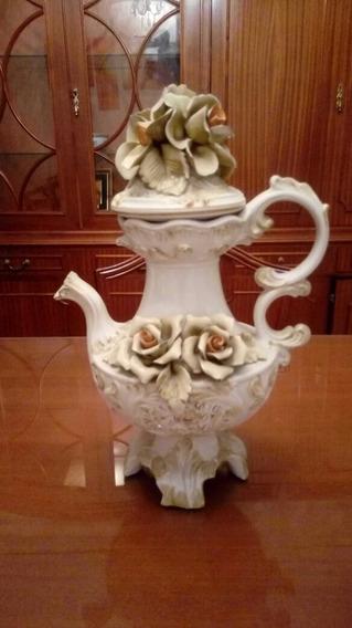 Antiguo Jarrón De Porcelana Italiana F. F. Pigato