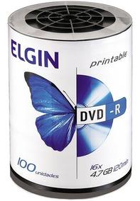 Mídia Dvd-r Printable 4.7 Gb 120min 16x Tubo 100und Elgin