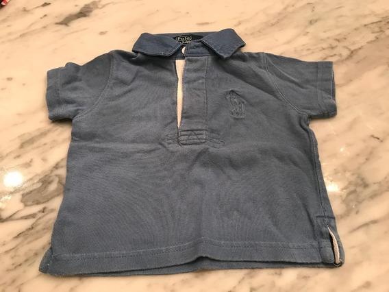 Remera Bebe Polo Ralph Lauren Unisex - T 9 Meses - Usado