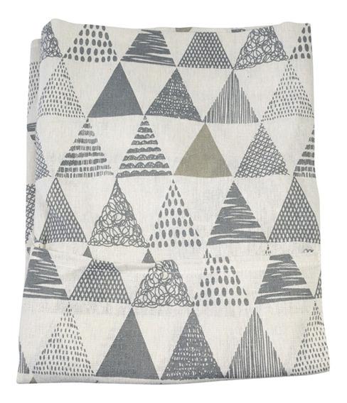 Delantal - Print De Patrones Geometricos - Gris