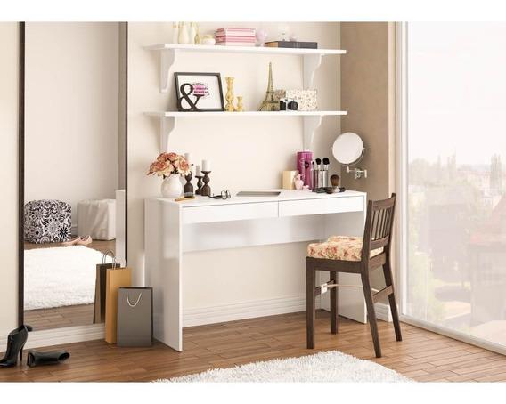 Escrivaninha Com 2 Gavetas Lindóia - Branco