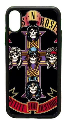 Imagen 1 de 1 de  Funda iPhone 5 6 7 8 Plus X Xr Xs Max 11 Guns N Roses Cruz