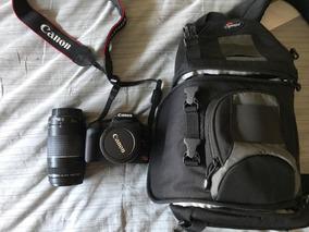 Canon T1i + Lente 75-300 + Lente 18-55 + Cartão Sd 16gb