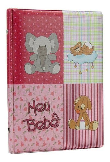 Álbum Foto Diário Do Bebê 100 Fotos 15x21 Rosa - 93229