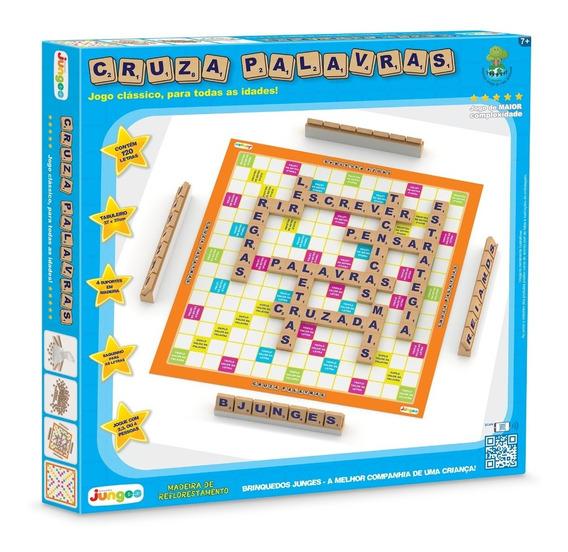 Jogo Tabuleiro Palavras Cruzadas 120pçs Brinquedo 707 Junges