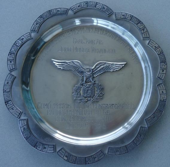 Militaria - Força Aérea Da Bolívia/placa Comemorativa
