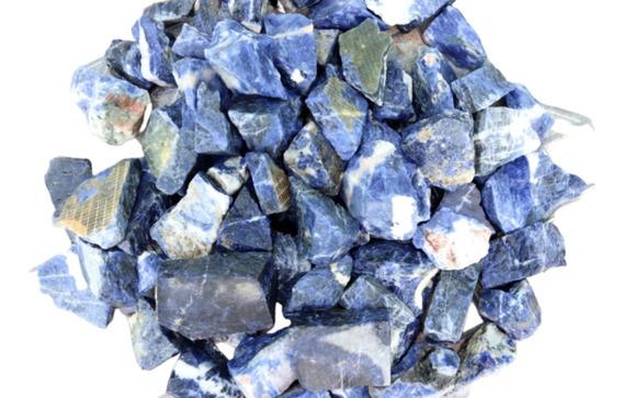 Lote Com 1 Kg De Sodalita Pedra Natural Bruto