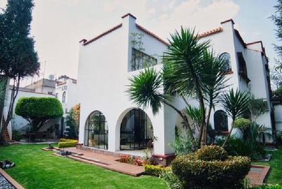 Casa En Venta En Coyoacan Colonia Country Club, 480m2 Cuatro Recamaras