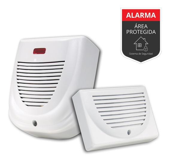 Sirena Para Alarma Domiciliaria Exterior+interior-kit
