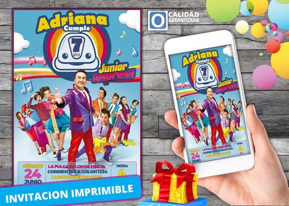 Invitaciones Cumpleaños Junior Express Souvenirs Cotillón