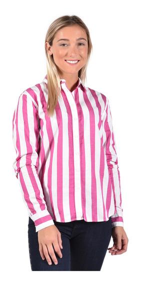 Camisa Regular Fit Tommy Hilfiger Rosa Ww0ww25299608 Mujer