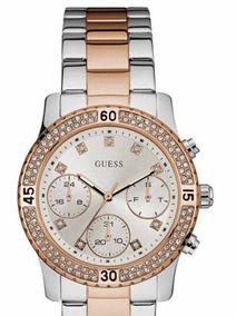 Relógio Prata E Rose Guess Mod 92595lpgsga6