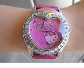 Relógio Infantil Adulto De Pulso Hello Kitty Coração - Pink