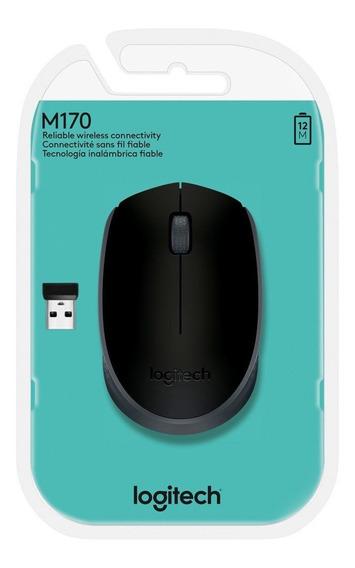 Mouse Logitech M170 Wireless Nano Preto Na Embalagem