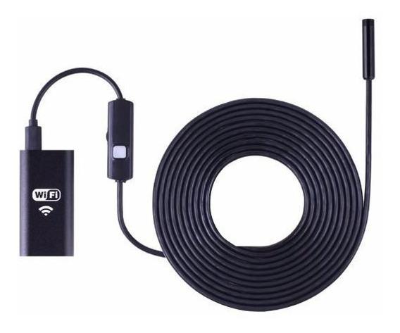 Endoscopio Boroscopio Wifi 8mm 5mts 8 Leds iPhone Android Pc