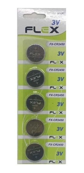 Bateria Cr2450 Pilha Cr2450 3v Cartela Com 5 Unidades