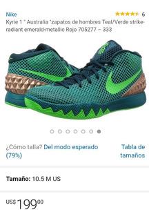 Tenis Nike Kyrie 1 Color Verde Esmeralda
