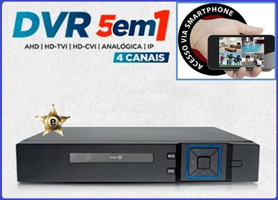 Monitor De Imagens Por Smartphone Tablet Dvr Fullhd 4 Ch
