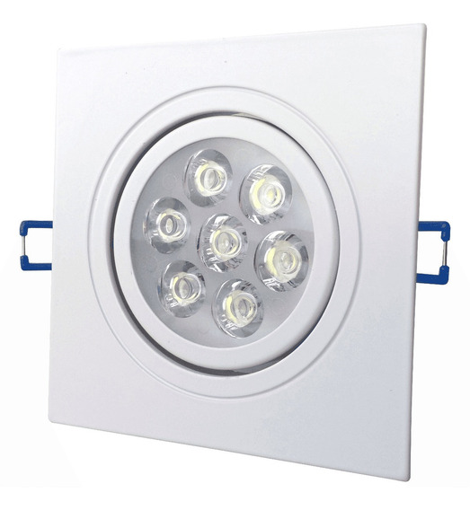 Spot Led Embutir Quadrado Direcionável 7w Branco Frio