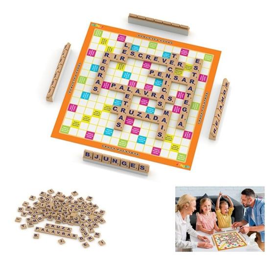 Brinquedo Jogo Tabuleiro Palavras Cruzadas 120pçs 707 Junges
