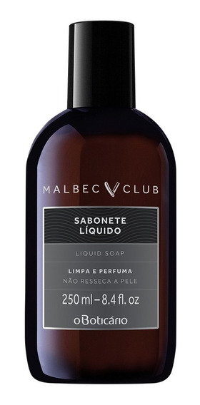 Malbec Club Sabonete Líquido 250ml