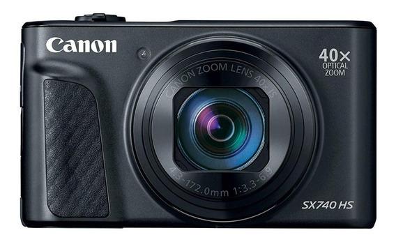 Canon PowerShot SX740 HS compacta avançada cor preto