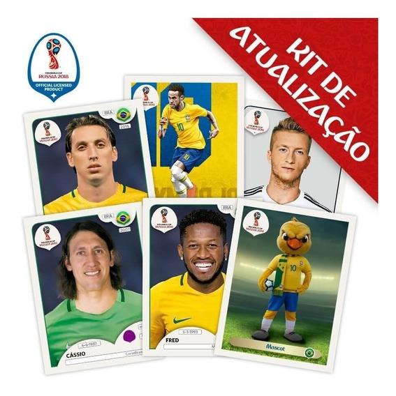 Kit Atualização Copa Do Mundo 2018 C/ 100 Figurinhas+encarte