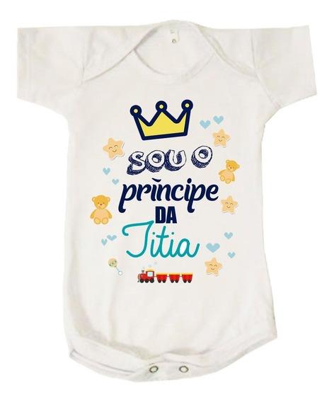 Body Bebê Menino Príncipe Da Titia Tia