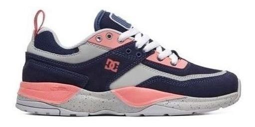 Tênis Dc E. Tribeka Sa Feminino Blue Pink