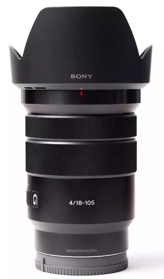 Lente Sony E Pz 18-105 Mm F/4 G Oss C/n .fiscal Eletrônica