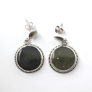 Brinco Obsidiana Ouro - Id 3309