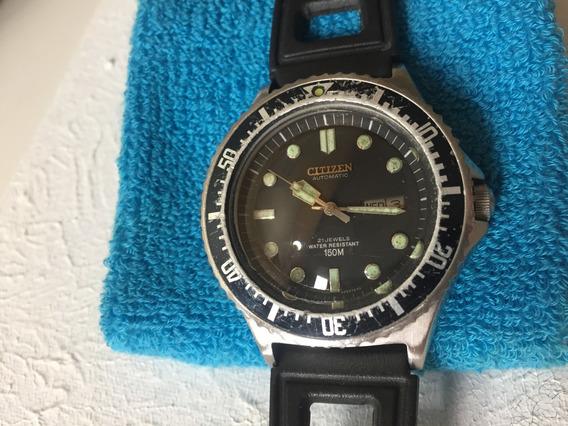 Relógio Citizen Automatic Diver 150 - Modelo 51-2273 - Usado