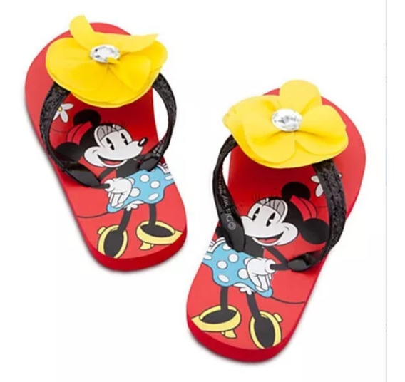 Disney Ojotas Sandalias Minnie Mouse Flor Diamante Playhouse