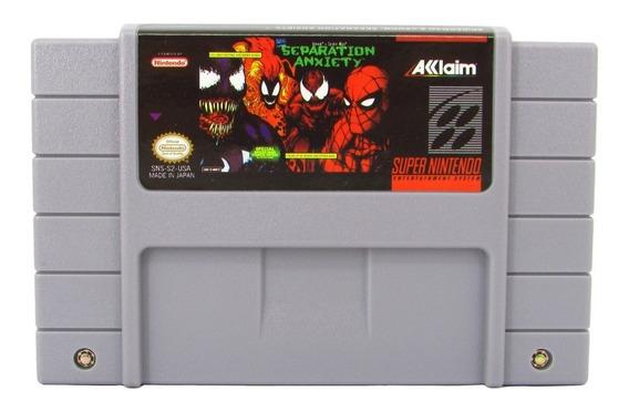 Fita Snes Spiderman & Venom Separation Anxiety Cartucho Novo