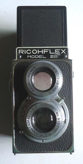 Maquina Fotografica Ricohflex Iii-b Para Colecionador No Est