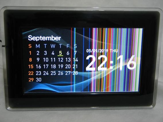 Porta Retrato Digital Samsung Sem Fonte Com Defeito Na Tela!