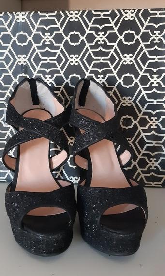 Zapatos Paruolo Glitters 35 Fiesta Noche Sandalias