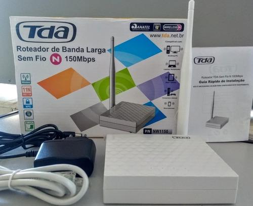 Repetidor Roteador Wps Wifi N 150mbs Tda Nw1150 Novo