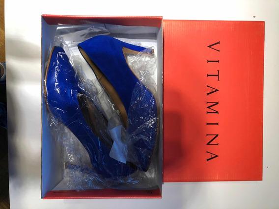Zapatos Stilettos Vitamina Azul Talle 39