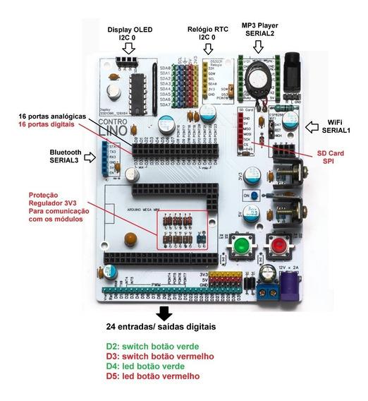 Kit Arduino Mega Pro Mini 2560 Ch340g E Shield