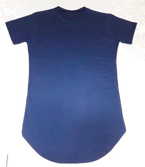 Camiseta Long Masculina Oversized Swag Longline 100% Algodão
