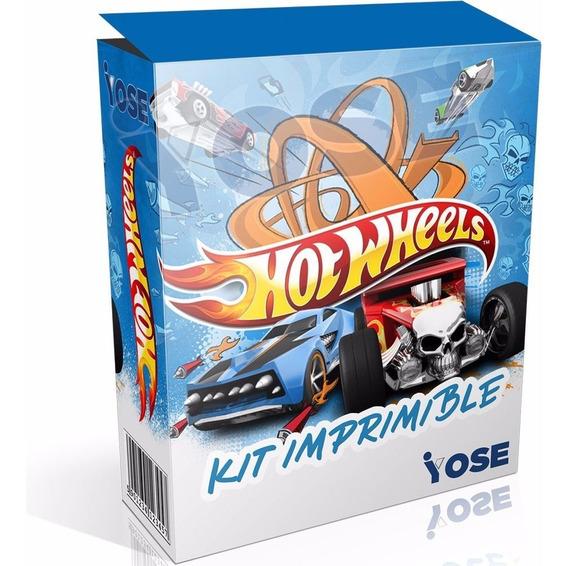 Kit Imprimible Hot Wheels Autos Candy Bar ¡envío En El Acto!