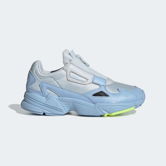Tenis adidas Falcon Zip Azul 100% Original