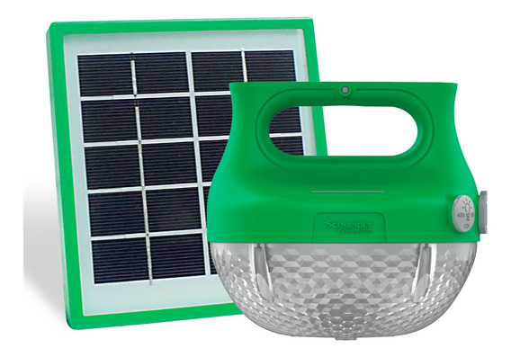 Lampara Solar Schneider Electric Con Entrada Usb Mobiya