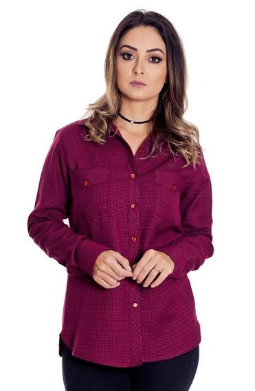 Camisa Xadrez Pied Poule Feminina - Pimenta Rosada