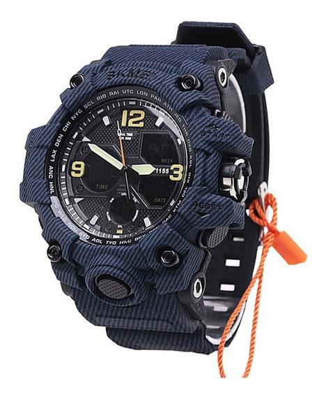 Relógio Smael 1115b Chumbo Digital Militar C Caixa E Nf